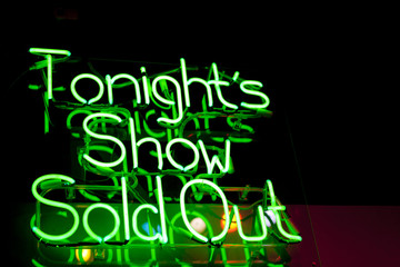 Tonight's Show Sold Out Neon