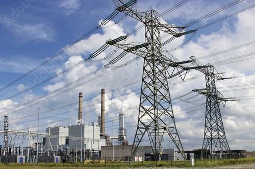 Leinwanddruck Bild Kohlekraftwerk