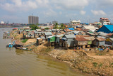 Poor district in Phnom Penh, Cambodia