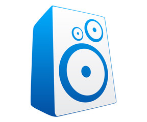 Blue loud speaker