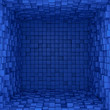 Inside of blue box