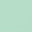 Polka dots on fresh mint background seamless vector pattern