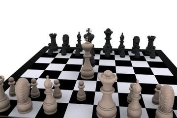 3D chess - Battle, King against King