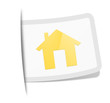Schild mit goldenem Haus
