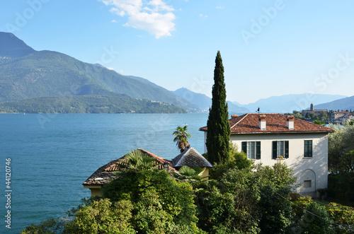 Gravedona town and Como lake, Italy