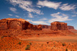 Peaks of rock formations in the Navajo Park of Monument Valley