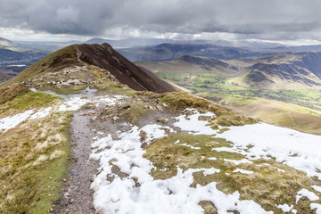 Causey Pike overlooking Scar Crags