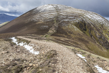 Causey Pike overlooking Sail