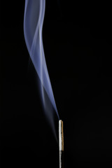 Incense stick burning