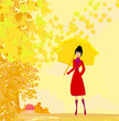 stylish woman with umbrella