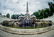 Old fountain in park of Schonbrunn Palace in Vienna. Austria
