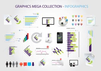 Graphics mega collection - infographics