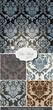 Damask patterns Vector Set