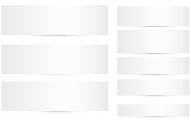 Blank Banners with Shadows Vectors Set