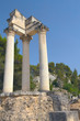 Ruins of Roman columns in Glanum (France)