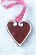 Christmas gingerbread heart