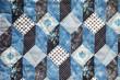 vintage cloth in a faux quilt design