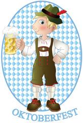 uomo con caraffa di birra