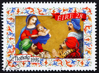 Postage stamp Ireland 1995 Adoration of the Magi, Christmas
