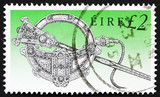 Postage stamp Ireland 1990 Tara Brooch poster