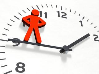 Figur & Uhr: Herr über die Zeit