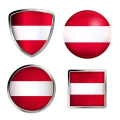 österreich flag icon set
