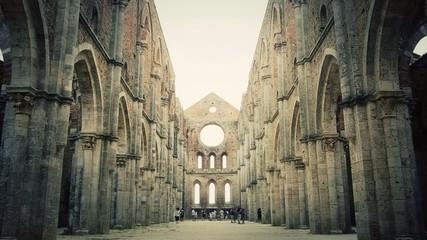 tuscany, san galgano abbey