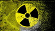 Radiation nuclear symbol on.