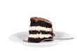 Isolated chocolate cream cake
