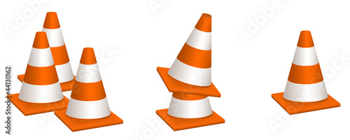 Traffic Cones Vectors