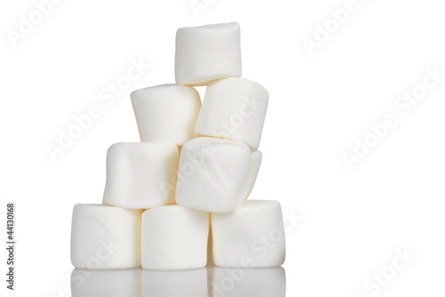 Pile of marshmallows