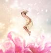 Blond Girl Jumping (Fantasy)