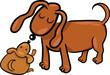 cartoon puppy and his dog mom
