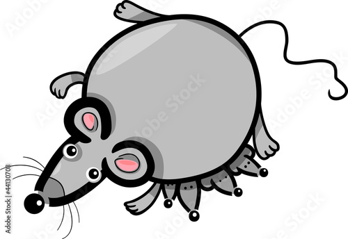 cartoon mouse mother with babies