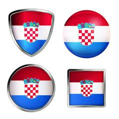 kroation flag icon set