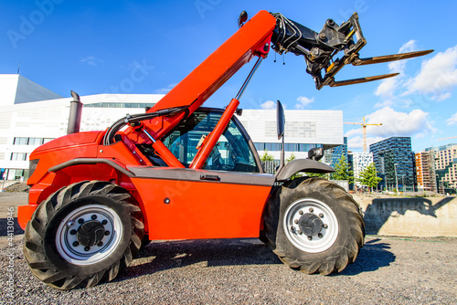 red  skid steer