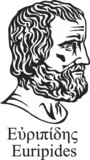 Ancient classical Greek tragedian Euripides.