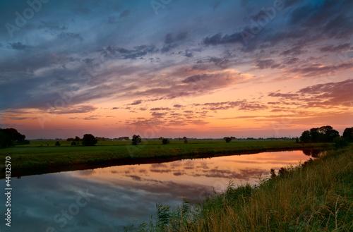 sunrise on Dutch river