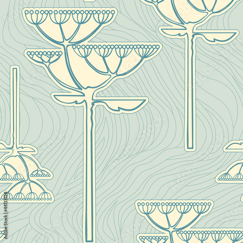 Vector background from flower branch