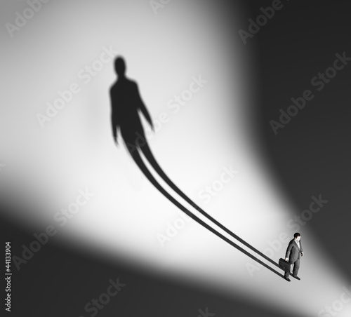 Business man long shadow