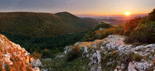 Mountain sunset panorama in Slovakia ( Small Carpathian )