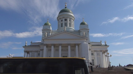 Timelapse of Evangelical Lutheran cathedral Helsinki, Finland