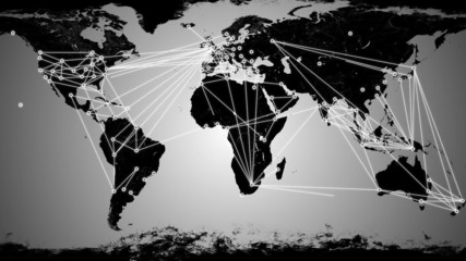 Worldwide Network Connections animation