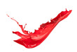 Isolated shot of red paint splash on white background