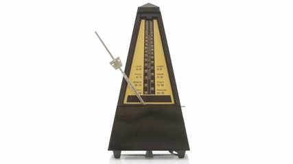 Music lesson: metronome playing at 120 bpm. With sound.