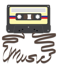 Cassette with Music on Tape