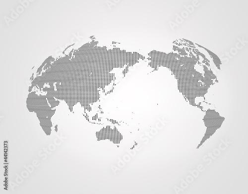 Staande foto Wereldkaart 世界地図