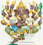 God of success 12 of 32 posture. Indian or Hindu God Ganesha ava