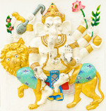 God of success 14 of 32 posture. Indian or Hindu God Ganesha ava