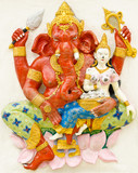 God of success 17 of 32 posture. Indian or Hindu God Ganesha ava